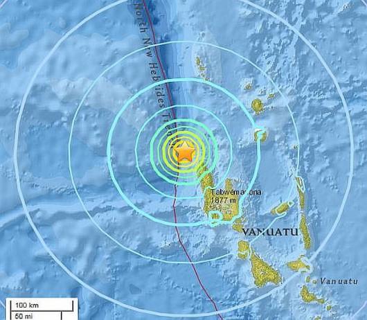 Trzęsienie ziemi u wybrzeży Vanuatu
