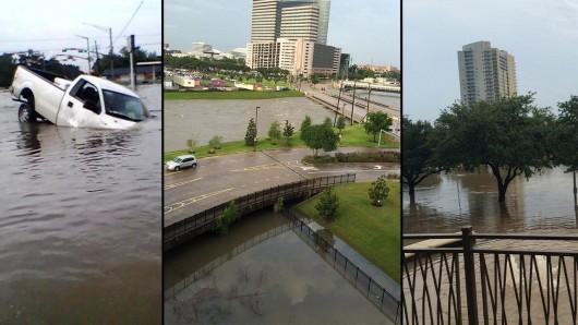 USA - Obfite opady deszczu i błyskawiczna powódź w Teksasie -5