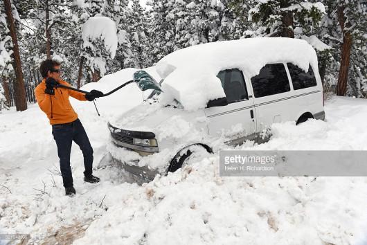USA - Ogromne śnieżyce w Kolorado -2