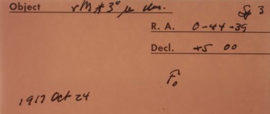 Zapiski na kopercie, w której przechowywano płytę z zapisem widma /The Carnegie Institution for Science /materiały prasowe