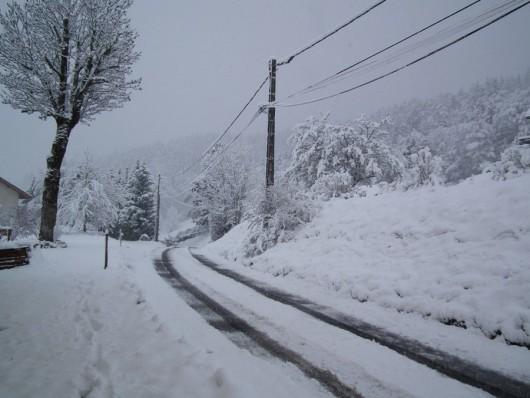 Do Francji powróciła zima, zrobiło się biało i zimno 2