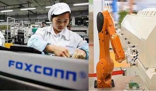 Foxconn zastąpił robotami 60 tys. pracowników