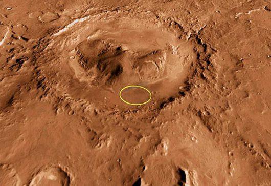 Mars - Krater Gale Foto: NASA