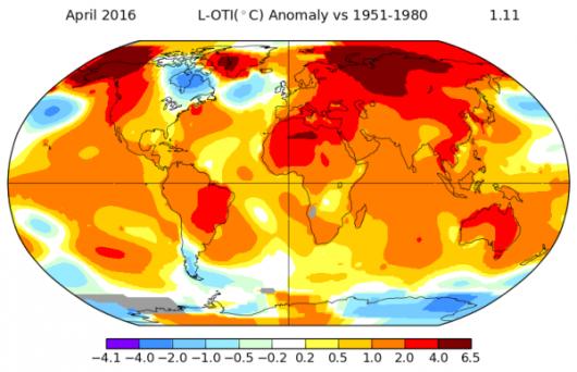 Kwiecień 2016 - rekordowo ciepły