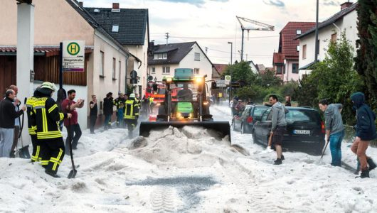 Niemcy - Gradobicie w Rheinland-Pfalz