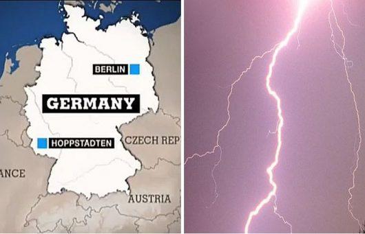 Niemcy, piorun uderzył w arbitra i grupę dzieci