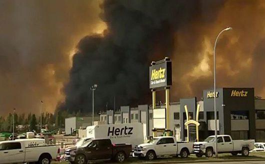 Ogromny pożar w prowincji Alberta