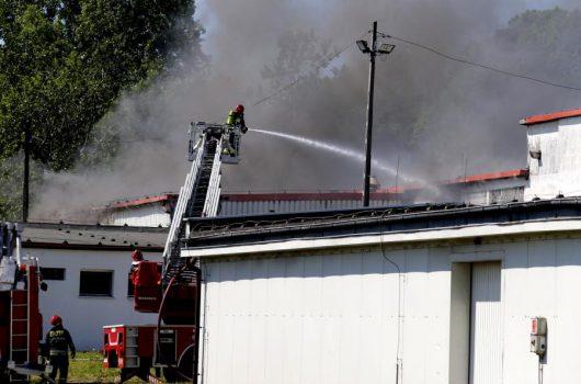 Polska - W Chorzowie pali się hala produkcyjna zakładów chemicznych z trzema tonami chemikaliów