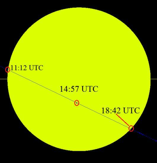 Przejście Merkurego na tle Słońca 9 maja 2016 roku