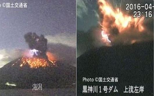 Sakurajima - erupcja 28.04.2016 23 16