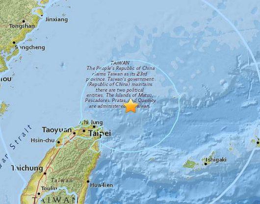 Tajwan - trzęsienie ziemi 1