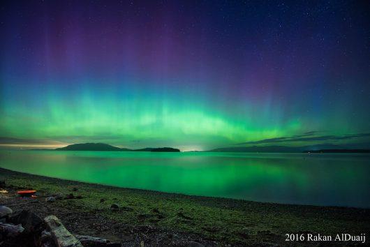 USA - Piękna zorza polarna zarejestrowana nad Seattle -2