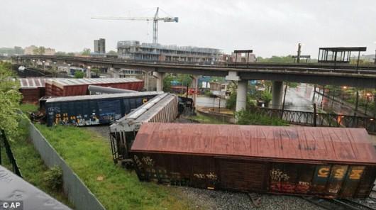 USA - Zaledwie 5 km od Białego Domu wykoleił się pociąg towarowy -1