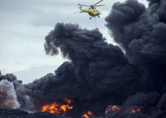 W Hiszpanii płonie nielegalne składowisko opon 5
