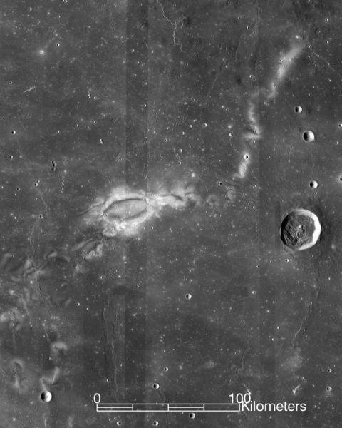 Zawirowania na Księżycu widoczne na zdjęciu z satelity Lunar Reconnaissance Orbiter