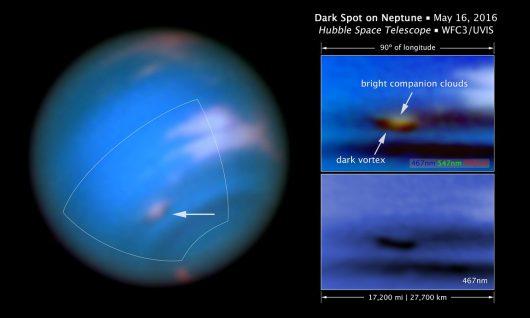 Ciemne plamy na Neptunie