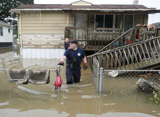 Historyczna powódź w Wirginii 2