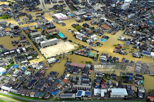 Japonia - Ulewne deszcze, powodzie i lawiny błotne -1