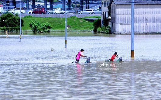 Japonia - Ulewne deszcze, powodzie i lawiny błotne -2