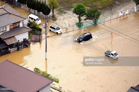 Japonia - Ulewne deszcze, powodzie i lawiny błotne -3
