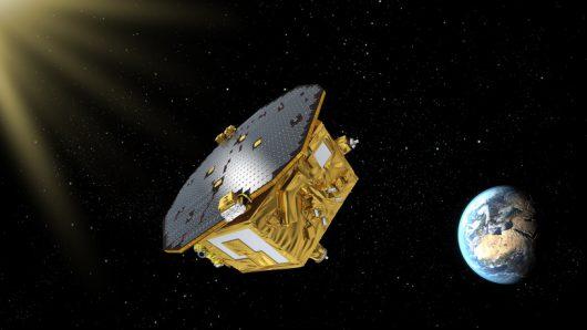 LISA Pathfinder w drodze do punktu L1 /Rys. ESA/C. Carreau /materiały prasowe