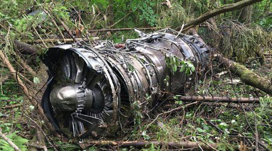 Muranowo, Rosja - Pod Moskwą rozbił się myśliwiec Su-27 -3