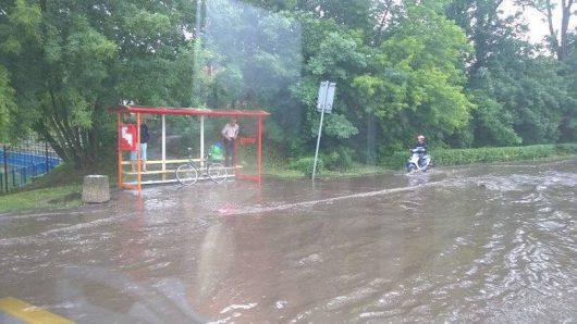 Polska - Bardzo duże opady deszczu w Gorzowie -1