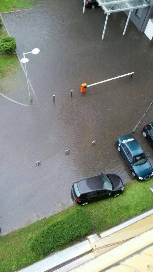 Polska - Bardzo duże opady deszczu w Gorzowie -2