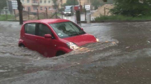 Polska - Bardzo duże opady deszczu w Gorzowie -3