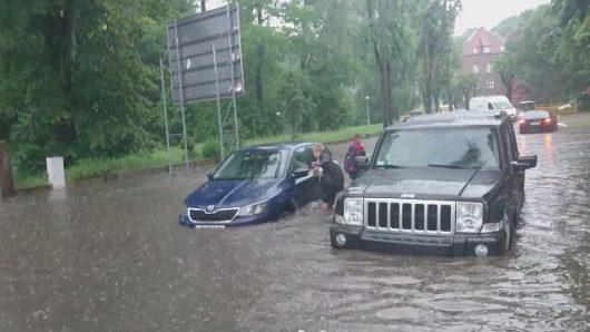 Polska - Bardzo duże opady deszczu w Gorzowie -4