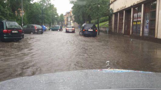Polska - Bardzo duże opady deszczu w Gorzowie -5