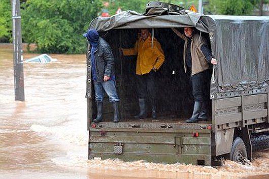 Rumunia - Ulewne deszcze doprowadziły do powodzi -3
