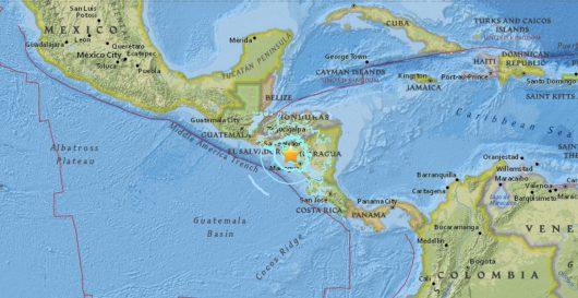 Trzęsienie ziemi - Nikaragua