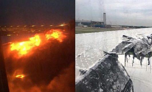 Tuż po wylądowaniu zapaliło się skrzydło amolotu Singapore Airlines