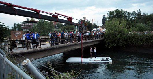 Turcja - Autokar z dziećmi wpadł do kanału wodnego