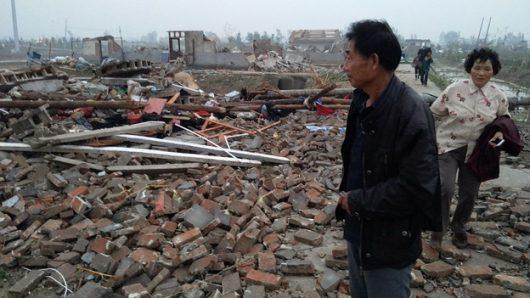 Yancheng, Chiny - Potężne tornado zabiło co najmniej 78 osób -2