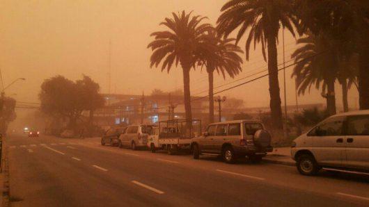 Chile - Pył znad pustyni dotarł do miast -3