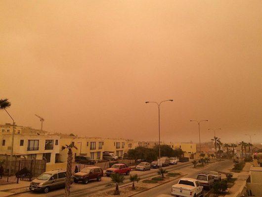 Chile - Pył znad pustyni dotarł do miast -5