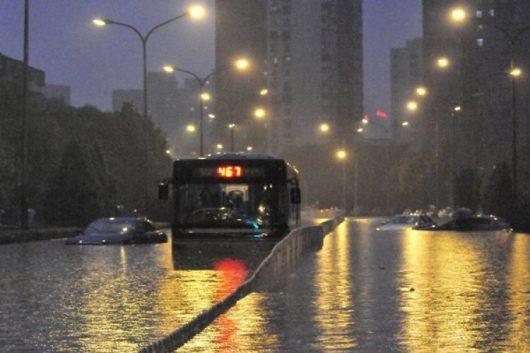 Chiny - Pekin sparaliżowany, pada bez przerwy od kilku dni -1