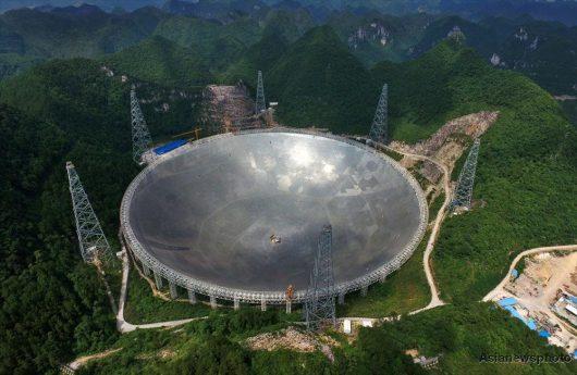 Chiny - Zakończono budowę największego na świecie radioteleskopu, FAST ma średnicę 500 metrów