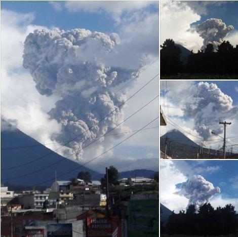 Erupcja wulkanu Santiaguito z dnia 26.06.2016 Zdjęcie CONRED