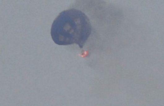 Lockhart, USA - Zapalił się i spadł na ziemię balon na ogrzane powietrze -1