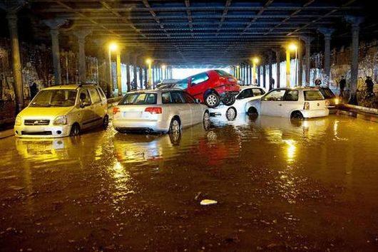 Niemcy - Ulewny deszcz nad Berlinem -3