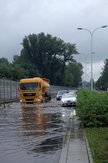 Ogromne ulewy przeszły nad Polską -1