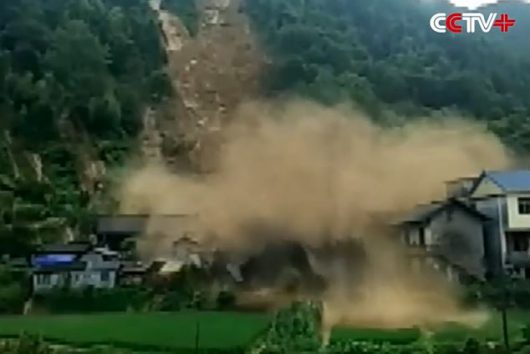 Osuwiska w Chinach, w dzielnicy Hunan 2