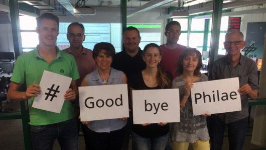 Pożegnanie Philae od Lander Control Center w Kolonii