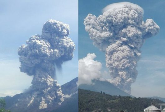 Santiaguito - erupcja 01.07.2016
