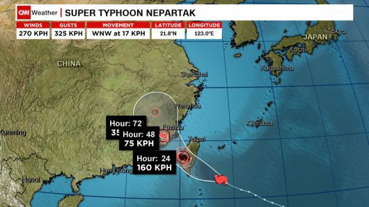 Supertajfun Nepartak sunie na Tajwan -2