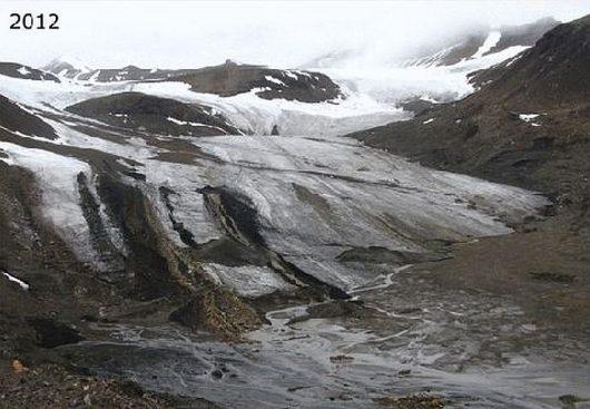 Szybka recesja lodowca Ferdinand (Ferdinandbreen) 2012 r.