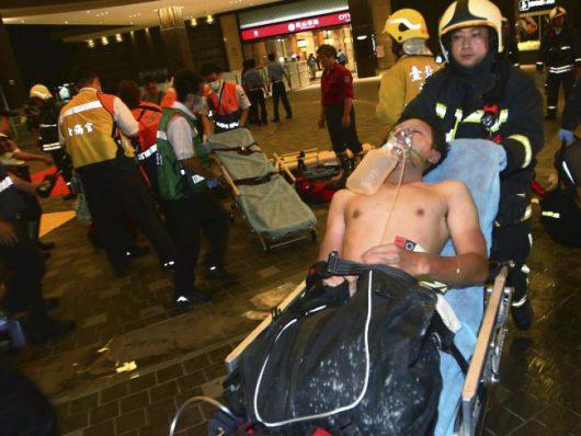 Tajpej, Tajwan - W pociągu wybuchła domowej roboty bomba wykonana z rury stalowej i prochu -2